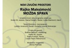 Tribina Novi zvučni prostori, Rajko Maksimović, 2016