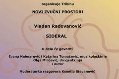 Tribina Novi zvučni prostori, Vladan Radovanović, 2016
