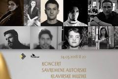 Koncert savremene autorske muzike za klavir, Parobrod, 2018