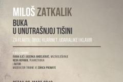 Tribina Novi zvučni prostori, Miloš Zatkalik, 2018