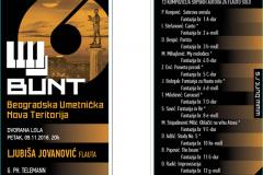 BUNT, Ljubiša Jovanović, Program, koncerta, novembar 2018.