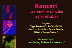 Koncert savremene muzike za kontrabas, Parobrod, 2019